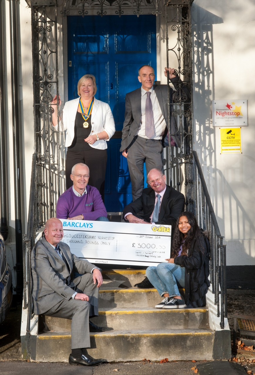 E G Carter & Co Ltd were delighted to present a £3000 cheque to